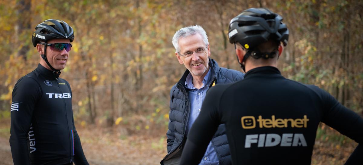 Training veldrijders Telenet Fidea